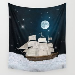 the pirate ghost ship Wall Tapestry