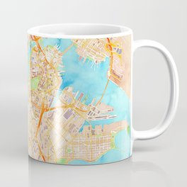 Boston watercolor map XL version Coffee Mug