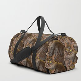 12 cats, painterly Duffle Bag