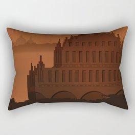 Temple Panorama Rectangular Pillow