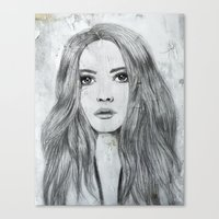 karen hallion Canvas Prints featuring Karen by Just Art by Lena Wennerström
