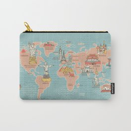 World Map Cartoon Style Carry-All Pouch