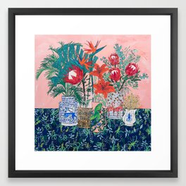 The Domesticated Jungle - Floral Still Life Framed Art Print