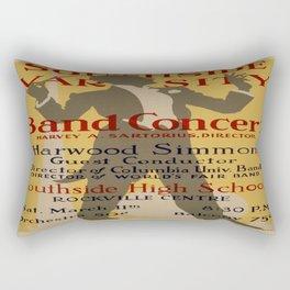 Vintage poster - Southside Varsity Band Concert Rectangular Pillow