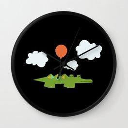 Flying Croc Wall Clock
