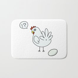 surprised chicken Bath Mat