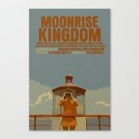 moonrise kingdom Canvas Prints featuring Moonrise Kingdom by FunnyFaceArt