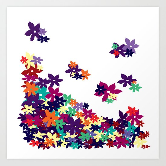 Flowered Up Art Print