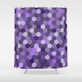 Hexa Graph Shower Curtain