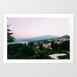 Mount Etna, Taormina, Sicily Art Print