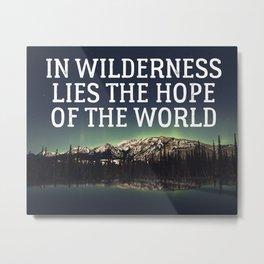In Wilderness Metal Print