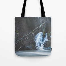 Emerging waterfall after the flood Tote Bag