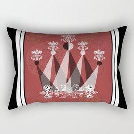 Red Queen with Mandalas Rectangular Pillow