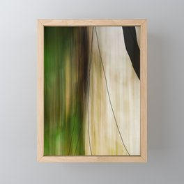 Forest, Water, Lines Framed Mini Art Print