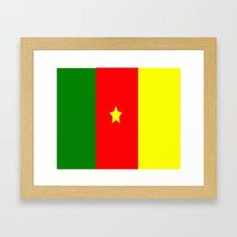 Flag of Cameroon Framed Art Print