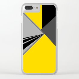 TRIANGULATION Yellow Clear iPhone Case