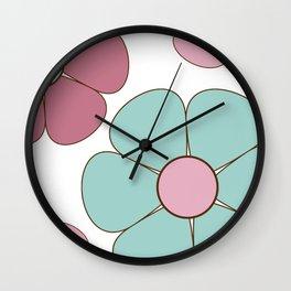 Cute Flowers Wall Clock