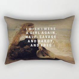 half-savage and hardy, and free Rectangular Pillow