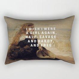 half-savage and hardy, and free Rectangular Pillow