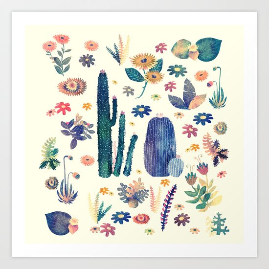 cactus king and queen 2 Art Print