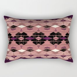 small diamond aztec Rectangular Pillow