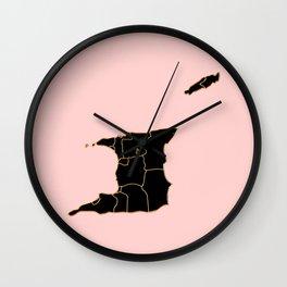 Trinidad and Tobago map Wall Clock