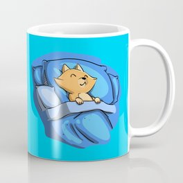 Sleeping cat - cat cartoon Coffee Mug