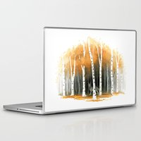 wolf Laptop & iPad Skins featuring Autumn Wolf by Freeminds