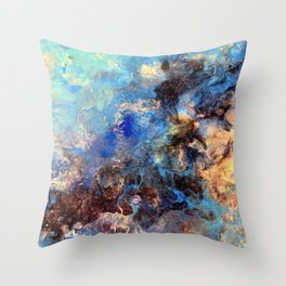 Pacific Lagoon - Original Abstract Art by Vinn Wong Throw Pillow