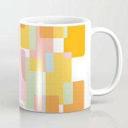 Pastel Geometric Shape Collage Coffee Mug