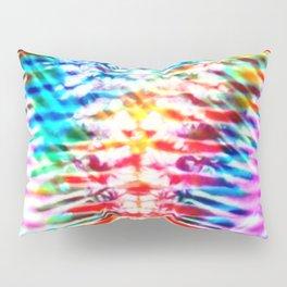 Crumpled Rainbow V Tie Dye Pillow Sham