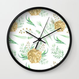 Coral Peach Garden Wall Clock