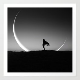 It Gives you Wings - New moon art Art Print