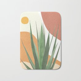 Abstract Agave Plant Bath Mat