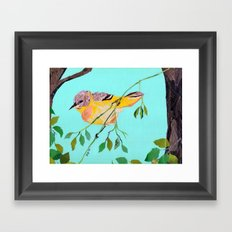 hello yellow Framed Art Print