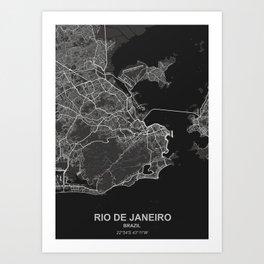 Rio de Janeiro dark Art Print