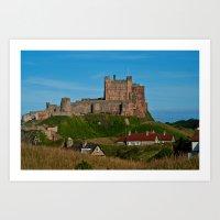 Bamburgh Castle, Northumberland Art Print