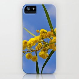 Mimosa yellow flowers iPhone Case