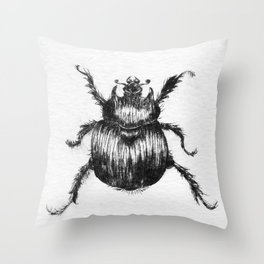 Dung Beeetle insect Throw Pillow