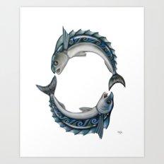 Fish Circle Art Print