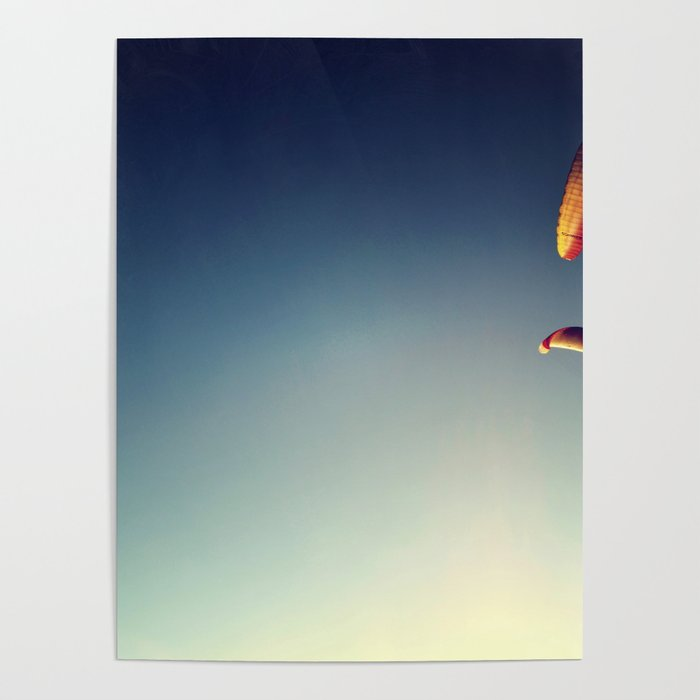 two paragliders from above Poster