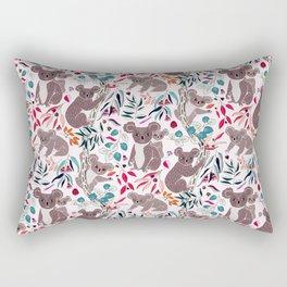 Cute Vintage Pink Cuddly Koalas Rectangular Pillow
