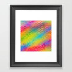 inca rainbow Framed Art Print