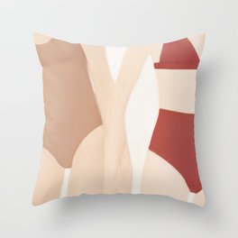 Holding Hands Throw Pillow