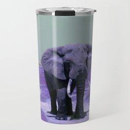 African Bull Elephant in Purple Travel Mug