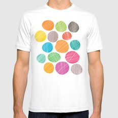 Circles White MEDIUM Mens Fitted Tee