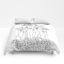 Floral Flytraps Comforters