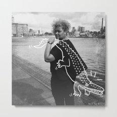 The Urban Crocodile Huntress Metal Print