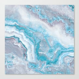 Ocean Foam Mermaid Marble Canvas Print