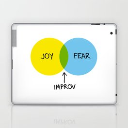 The Venn of Improv (Yellow/Blue) Laptop & iPad Skin